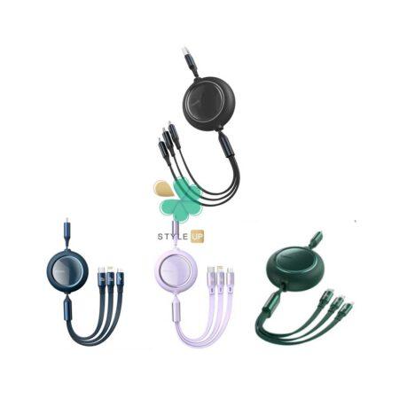 قیمت کابل سه سر بیسوس میکرو، تایپ سی و آیفون مدل Baseus Bright Mirror CAMLC-AMJ01