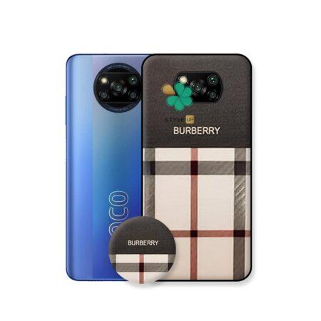 خرید قاب گوشی شیائومی Xiaomi Poco X3 Pro طرح Burberry