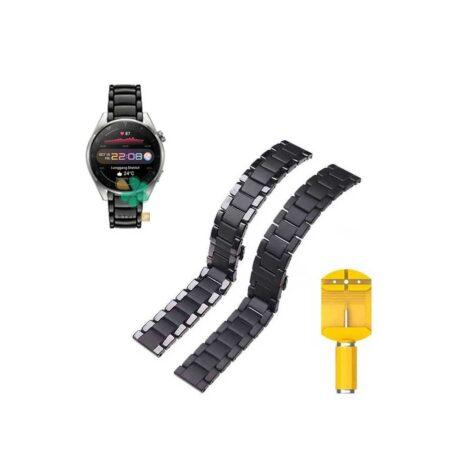 قیمت بند فلزی ساعت هواوی واچ Huawei Watch 3 Pro مدل 3Bead Carbon