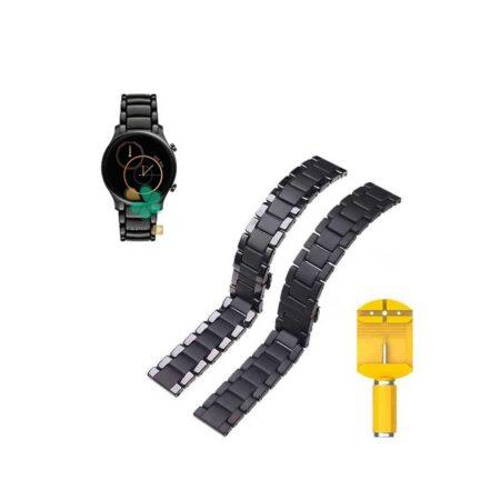 قیمت بند فلزی ساعت شیائومی Haylou RS3 LS04 مدل 3Bead Carbon