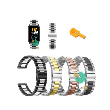 قیمت بند ساعت هانر واچ Honor Watch ES مدل استیل دو رنگ