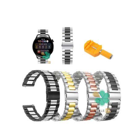 قیمت بند ساعت هواوی واچ Huawei Watch 3 مدل استیل دو رنگ