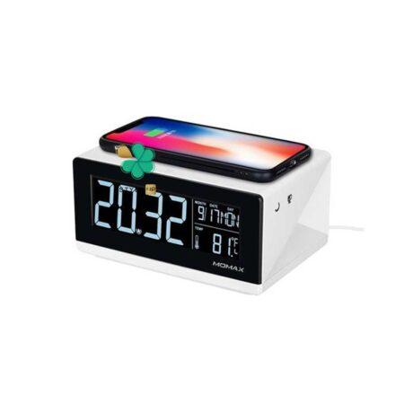 خرید وایرلس شارژر و ساعت رومیزی مومکس مدل Momax QC1