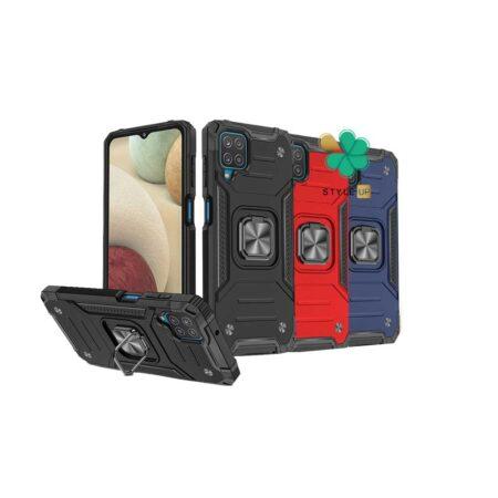 خرید قاب ضد ضربه رینگ دار گوشی سامسونگ Galaxy A12 طرح مگاترون