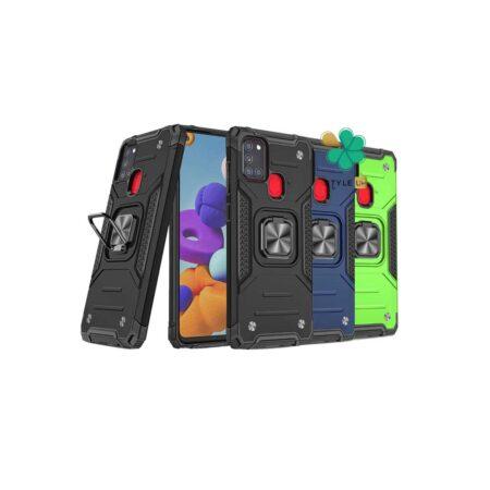 خرید قاب ضد ضربه رینگ دار گوشی سامسونگ Galaxy A21s طرح مگاترون