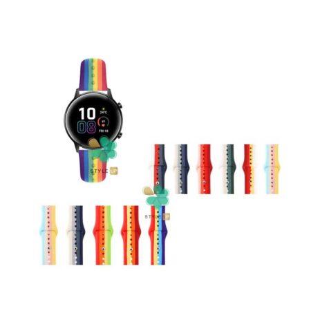 قیمت بند سیلیکونی ساعت هواوی Honor Magic Watch 2 42mm مدل رنگین کمان