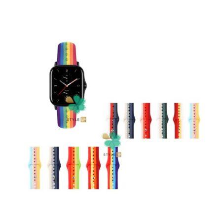 قیمت بند سیلیکونی ساعت شیائومی Xiaomi Amazfit GTS 2e مدل رنگین کمان