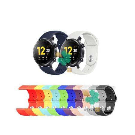 قیمت بند سیلیکونی ساعت ریلمی واچ Realme Watch S مدل دکمه ای