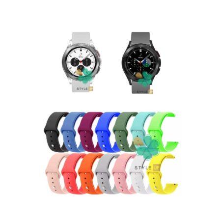خرید بند سیلیکونی ساعت سامسونگ Galaxy Watch 4 Classic مدل دکمه ای