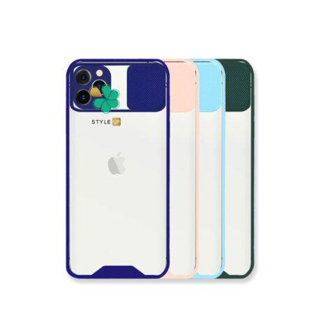 خرید قاب گوشی اپل iPhone 12 Pro Max مدل پشت شفاف محافظ لنزدار کشویی