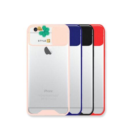 خرید قاب گوشی اپل Apple iPhone 6 / 6s مدل پشت شفاف محافظ لنزدار کشویی