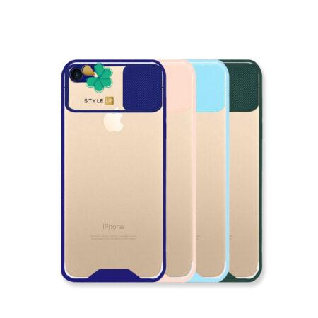 خرید قاب گوشی اپل Apple iPhone 7 / 8 مدل پشت شفاف محافظ لنزدار کشویی