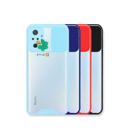 خرید قاب گوشی شیائومی Redmi Note 10 Pro مدل پشت شفاف محافظ لنزدار کشویی