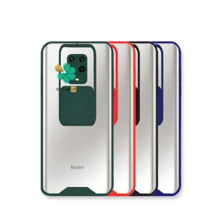 خرید قاب گوشی شیائومی Redmi Note 9s / 9 Pro مدل پشت شفاف محافظ لنزدار کشویی