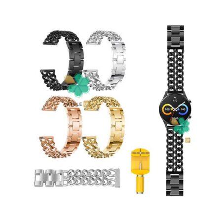 قیمت بند ساعت هوشمند شیائومی Xiaomi IMILAB W12 مدل استیل زنجیری