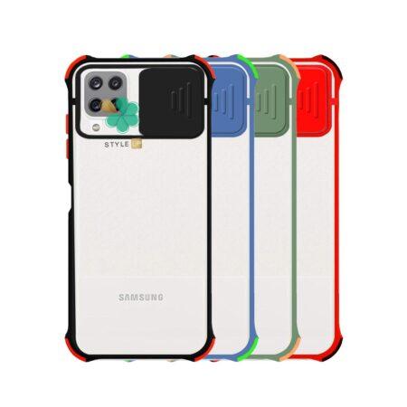 خرید قاب گوشی سامسونگ Samsung A12 مدل پشت مات بامپر دار