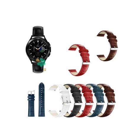 قیمت بند چرمی ساعت سامسونگ Galaxy Watch 4 Classic طرح Alligator