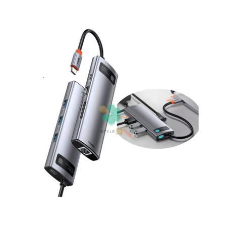 خرید هاب 8 پورت تایپ سی بیسوس مدل Baseus Metal Gleam CAHUB-CV0G