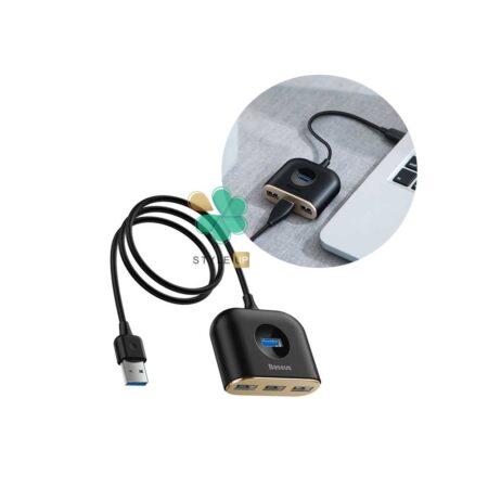 قیمت هاب آداپتور 4 پورت تایپ سی بیسوس مدلBaseus Square Round CAHUB-AY01
