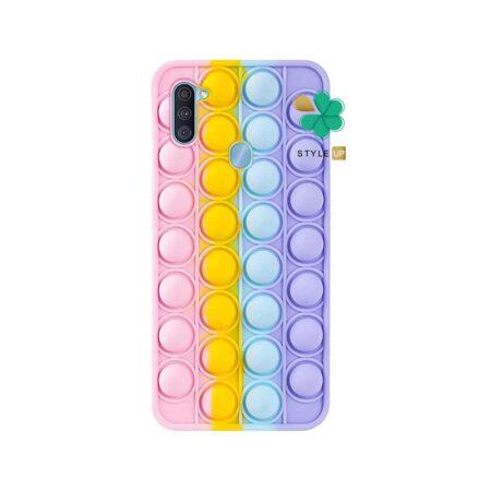 خرید قاب ضد استرس گوشی سامسونگ Samsung Galaxy M11 مدل رنگین کمانی