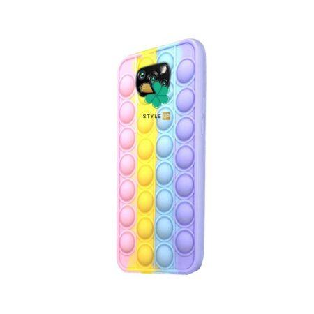خرید قاب ضد استرس گوشی شیائومی Xiaomi Poco X3 Pro مدل رنگین کمانی