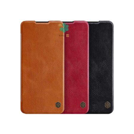 خرید کیف چرمی نیلکین گوشی شیائومی Xiaomi Redmi Note 9 5G مدل Qin
