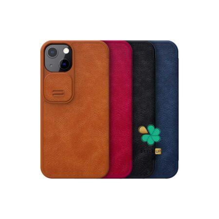 خرید کیف چرم نیلکین گوشی اپل Apple iPhone 13 Mini مدل Qin Pro