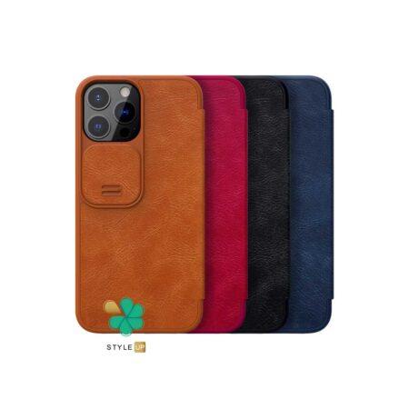 خرید کیف چرم نیلکین گوشی اپل Apple iPhone 13 Pro Max مدل Qin Pro