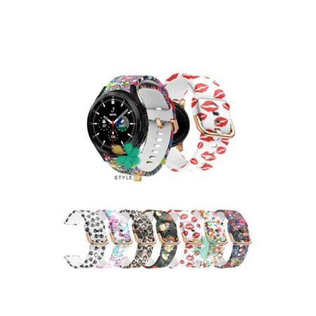 قیمت بند ساعت سامسونگ Samsung Galaxy Watch 4 Classic سیلیکونی طرح دار