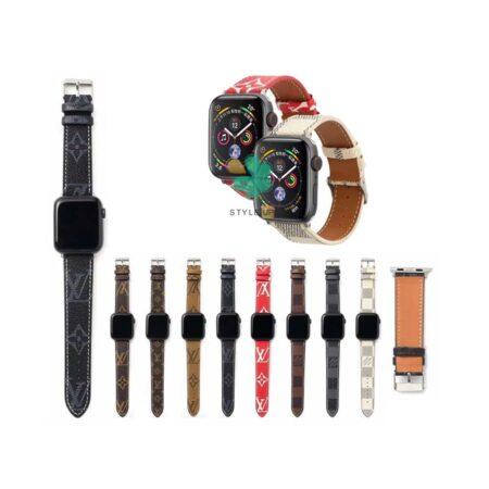 قیمت بند ساعت اپل واچ Apple Watch 7 41mm طرح لویی ویتون