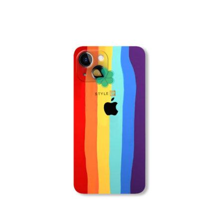 خرید قاب سیلیکونی گوشی اپل آیفون Apple iPhone 13 مدل رنگین کمان