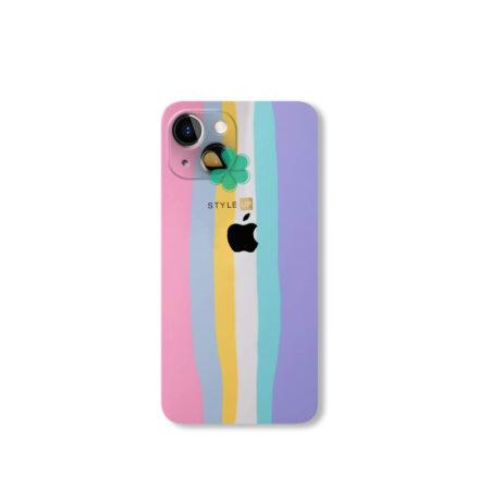 خرید قاب سیلیکونی گوشی اپل آیفون Apple iPhone 13 Mini مدل رنگین کمان