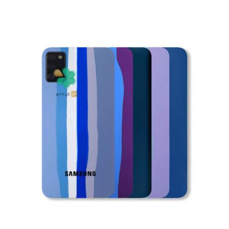خرید قاب سیلیکونی گوشی سامسونگ Samsung Galaxy A03s مدل رنگین کمان