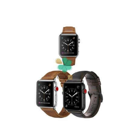 قیمت بند چرمی ساعت اپل واچ Apple Watch 7 41mm مدل Genuine Leather