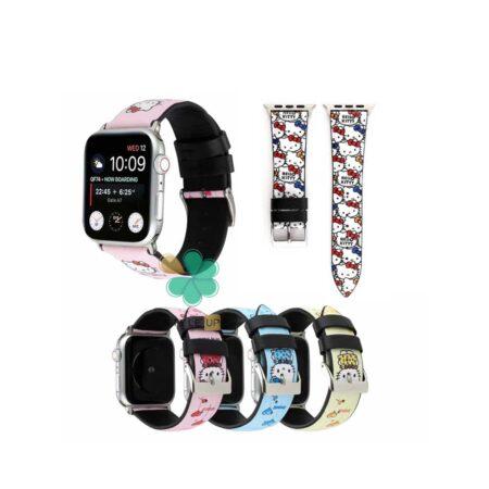 قیمت بند ساعت اپل واچ Apple watch 7 41mm طرح Hello kitty