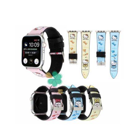 قیمت بند ساعت اپل واچ Apple watch 7 45mm طرح Hello kitty