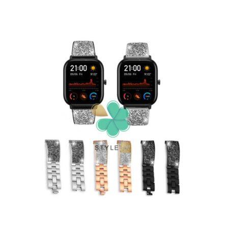 قیمت بند استیل ساعت شیائومی Xiaomi Amazfit GTS مدل سواروسکی